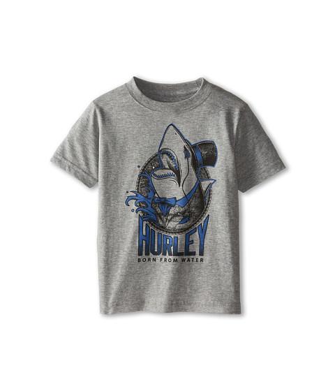 Hurley Kids - Fancy Shark Tee (Little Kids) (Dark Grey Heather) Boy