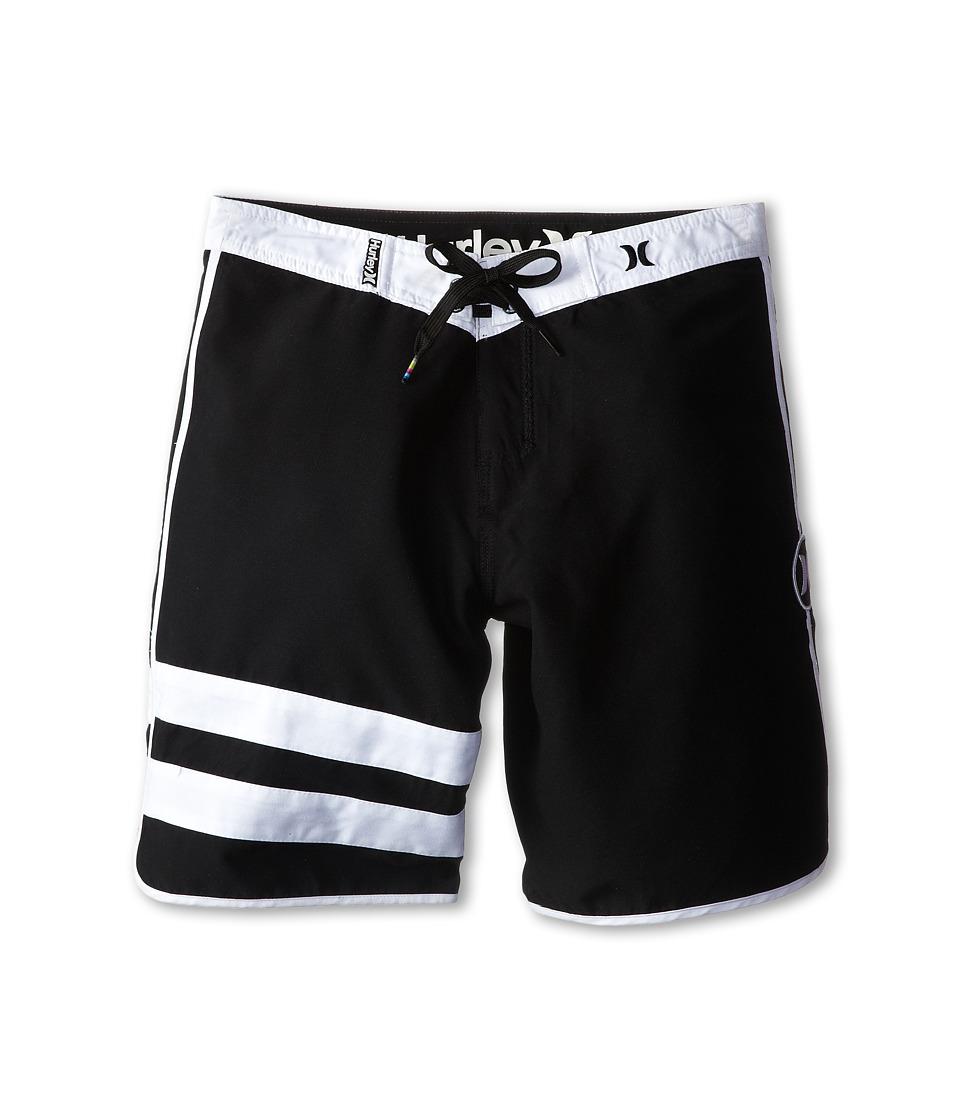 Hurley Kids - Block Party Boardshorts (Big Kids) (Black) Boy's Swimwear