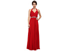Halter Shirred Stretch Tulle Gown