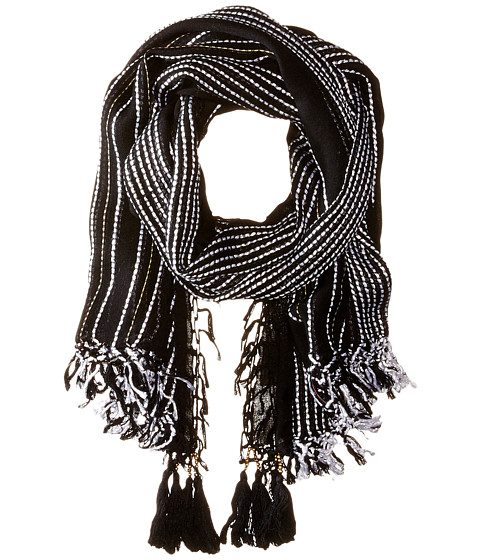 Vince Camuto - Slub Stripe Quad (Black) Scarves
