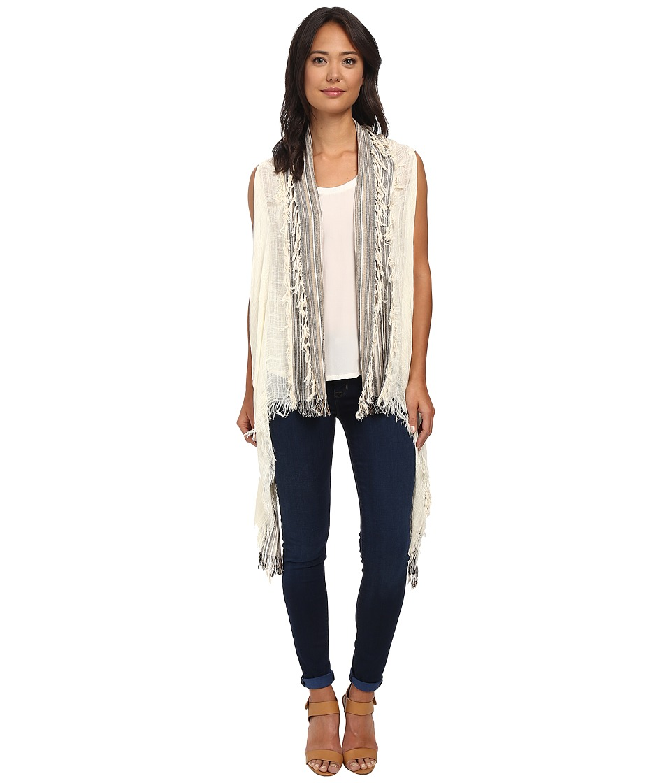 Vince Camuto - Patchwork Stripe (White) Scarves