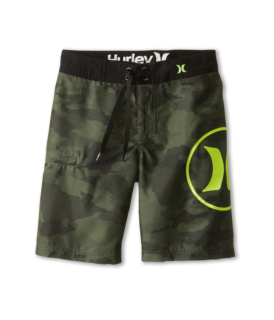 Hurley Kids - Camo Boardshorts (Big Kids) (Camo Green) Boy's Swimwear