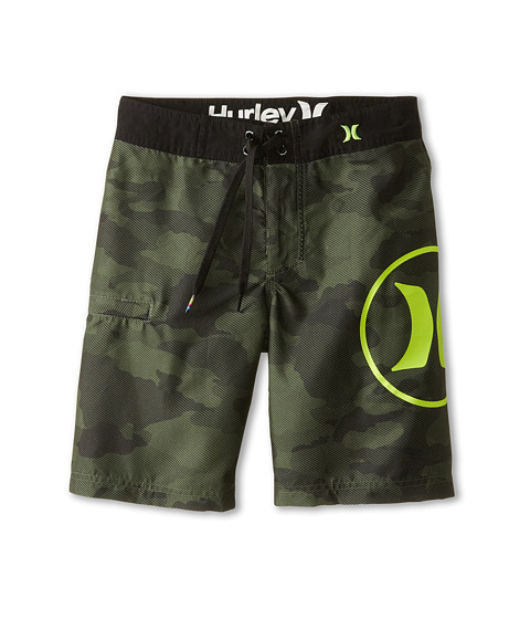 Hurley Kids - Camo Boardshorts (Big Kids) (Camo Green) Boy