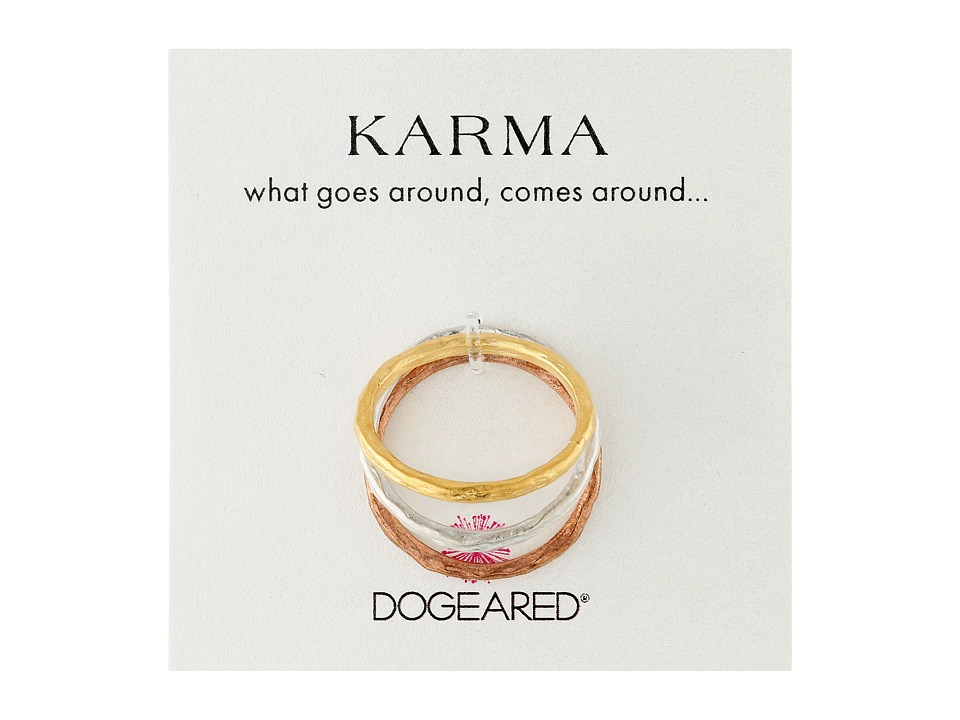 Dogeared - Karma Rings Set Of 3 (Mixed Metals) Ring