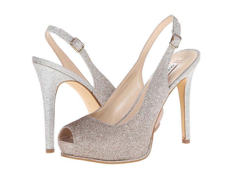GUESS - Huelan (Silver Glitter) High Heels