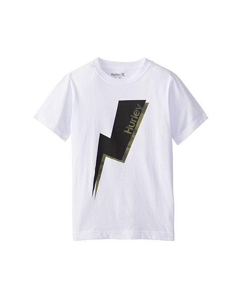 Hurley Kids - Short Sleeve Bolted Tee (Big Kids) (White) Boy