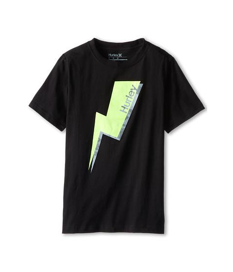 Hurley Kids - Short Sleeve Bolted Tee (Big Kids) (Black) Boy's T Shirt