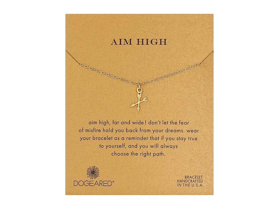 Dogeared - Aim High Crossing Arrows Bracelet (Gold Dipped) Bracelet