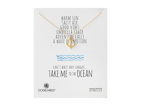 Dogeared - Take Me To The Ocean Classic Anchor Necklace (Gold Dipped) Necklace