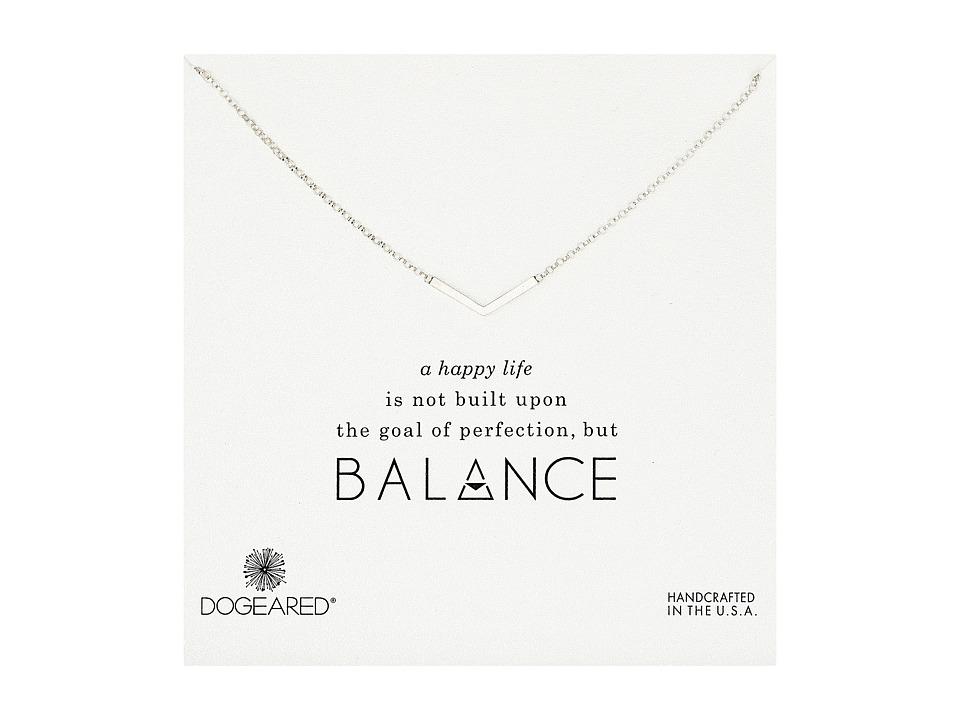 Dogeared - Balance Medium V Necklace (Sterling Silver) Necklace