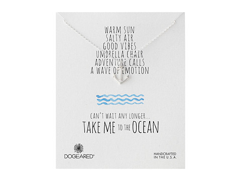 Dogeared - Take Me To The Ocean Classic Anchor Necklace (Sterling Silver) Necklace