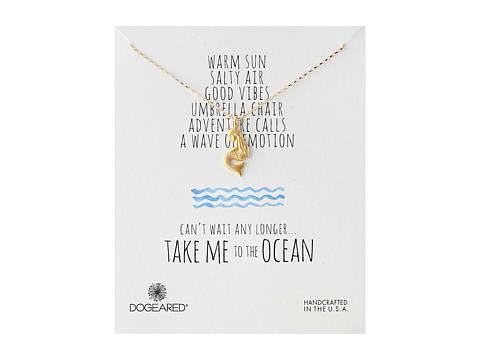 Dogeared - Take Me To The Ocean Pretty Mermaid Necklace (Gold Dipped) Necklace