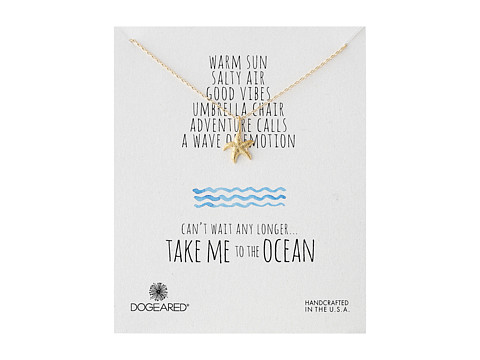 Dogeared - Take Me To The Ocean Medium Starfish Necklace (Gold Dipped) Necklace