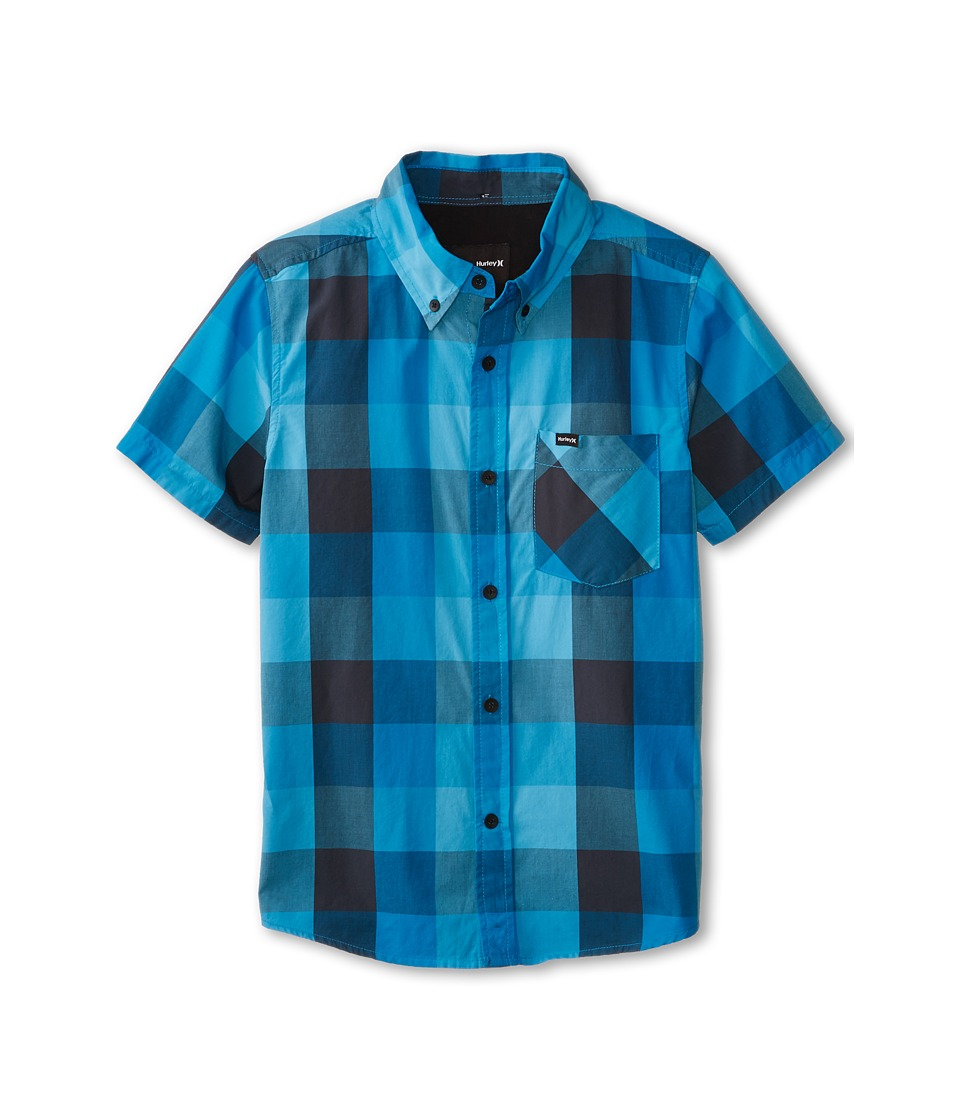 Hurley Kids - Surfers Only Short Sleeve Woven (Big Kids) (Blue Lagoon) Boy