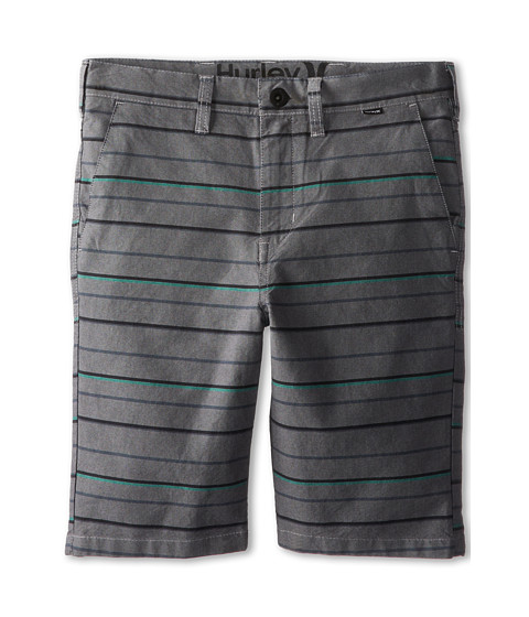 Hurley Kids - Getaway Shorts (Big Kids) (Charcoal Stripe) Boy's Shorts