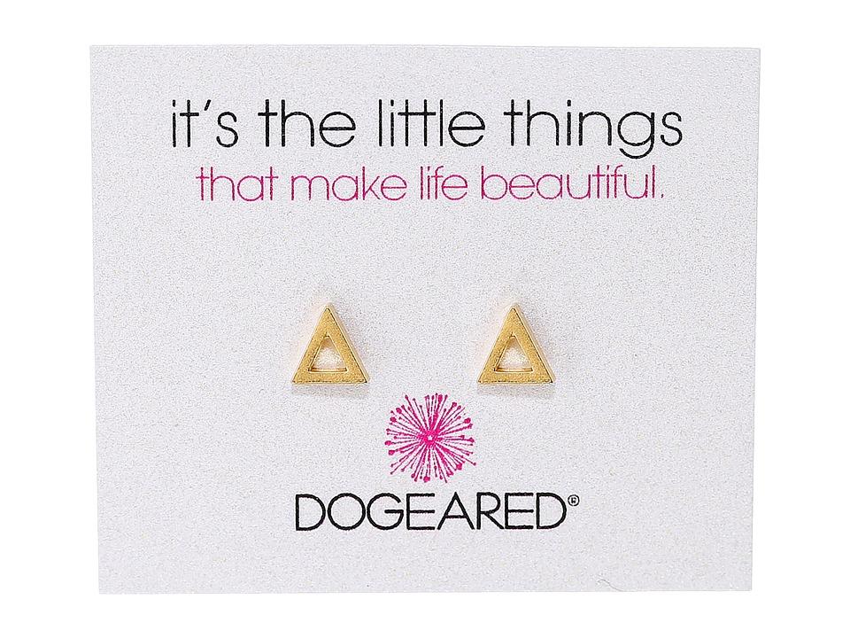 Dogeared - It's The Little Things Open Triangle Earrings (Gold Dipped) Earring