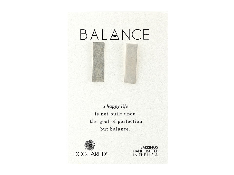 Dogeared - Balance Wide Bar Stud Earrings (Sterling Silver) Earring