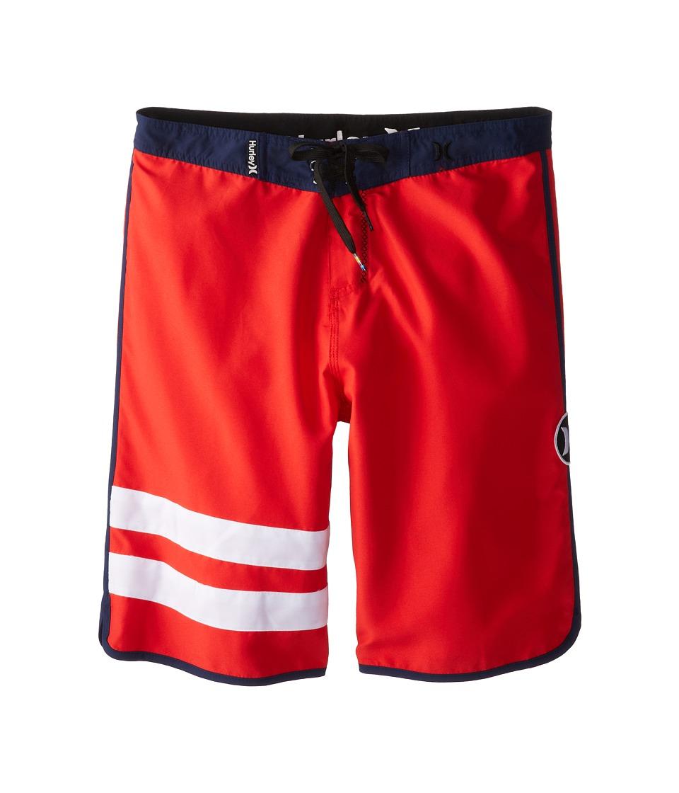 Hurley Kids - Block Party Boardshorts (Big Kids) (Daring Red) Boy's Swimwear