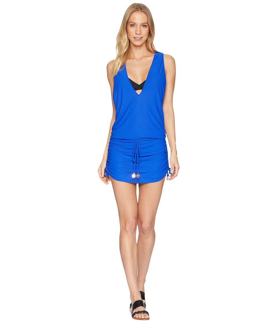 Luli Fama - Cosita Buena T-Back Mini Dress Cover-Up (Electric Blue) Women's Swimwear