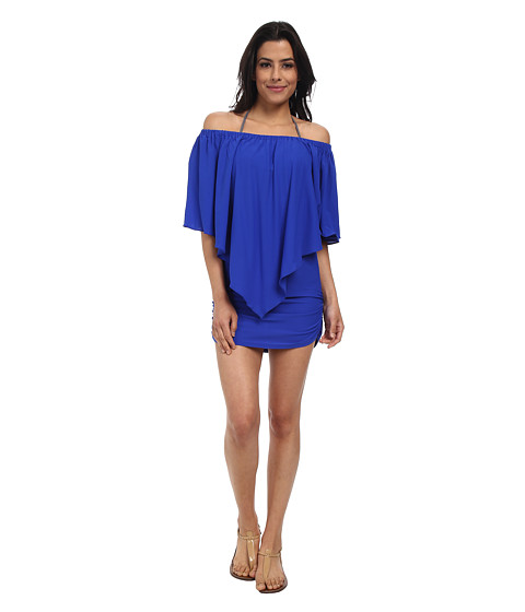 Luli Fama - Cosita Buena Party Dress Cover-Up (Electric Blue) Women's Dress
