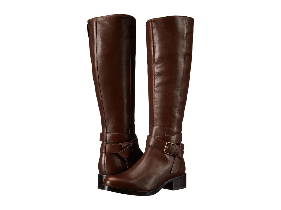 Cole Haan - Briarcliff Boot Extended Calf (Chestnut Leather) Women's Dress Boots