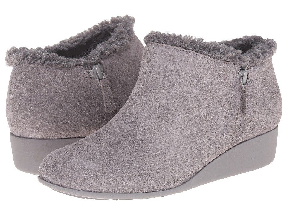 Cole Haan - Callie Slip On Shearling Waterproof (Ironstone Suede/Shearling) Women