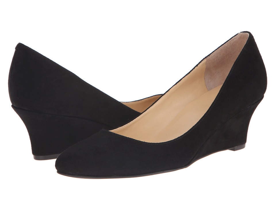 Cole Haan - Catalina Wedge (Black Suede) Women's Wedge Shoes