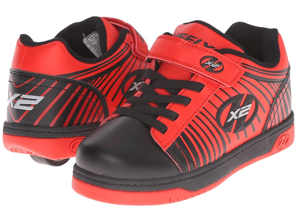 Heelys - Dual Up x2 (Little Kid/Big Kid/Adult) (Black/Red/Striped) Boys Shoes