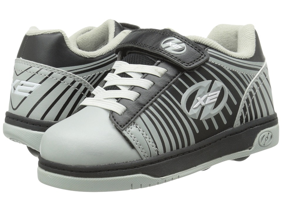Heelys - Dual Up X2 (Little Kid/Big Kid/Adult) (Grey/Black/Striped) Boys Shoes