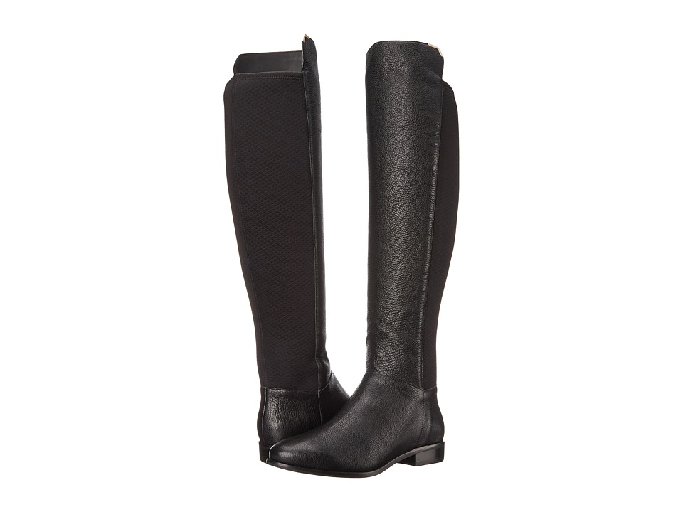 Cole Haan Dutchess Over The Knee Boot (Black Leather) Women