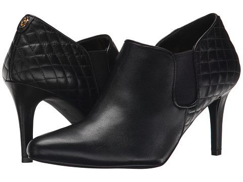 Cole Haan - Maxfield Shootie (Black Leather/Black Quilted) Women