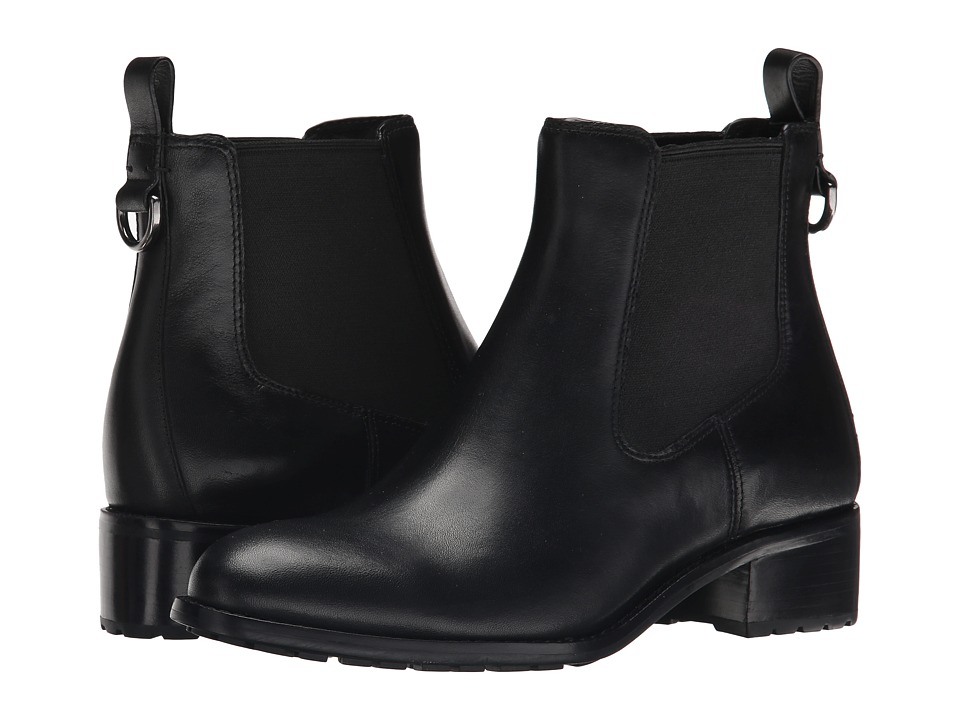 Cole Haan - Newburg Waterproof Bootie (Black Leather) Women's Pull-on Boots