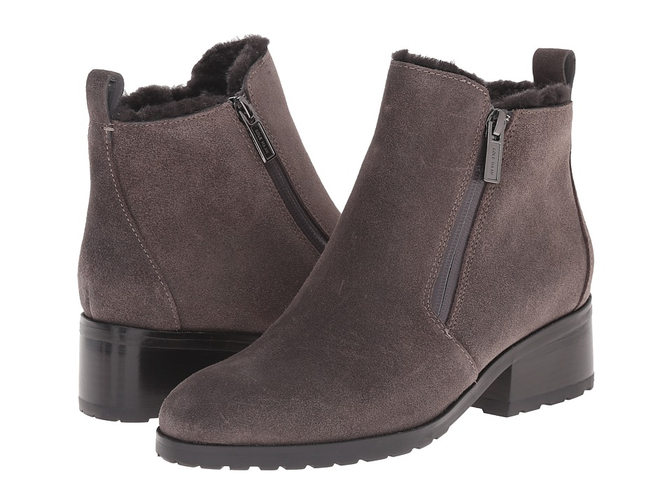 Cole Haan Oak Waterproof Shearling Bootie (Stormcloud Suede/Shearling) Women