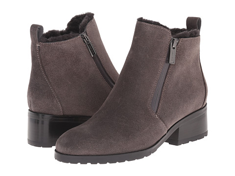 Cole Haan - Oak Waterproof Shearling Bootie (Stormcloud Suede/Shearling) Women
