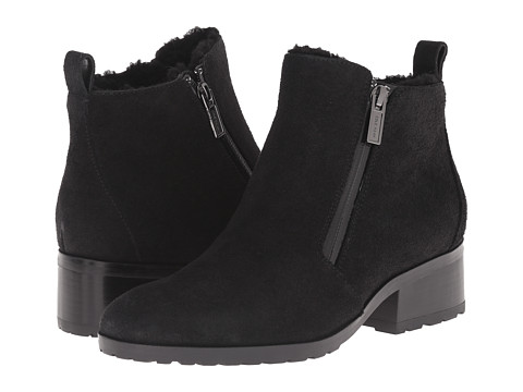 Cole Haan - Oak Waterproof Shearling Bootie (Black Suede/Shearling) Women's Pull-on Boots