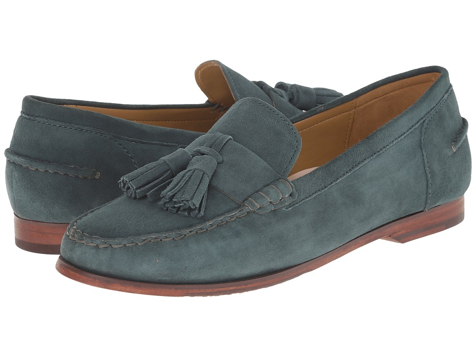 Cole Haan - Pinch Grand Tassel (Dark Spruce Suede) Women's Slip on Shoes