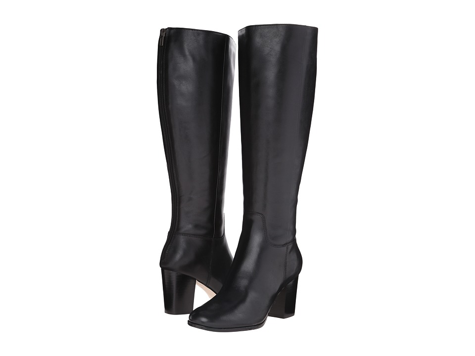 Cole Haan - Placid Extended Calf Boot (Black Leather) Women's Pull-on Boots