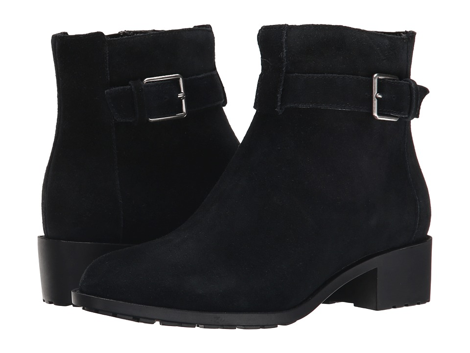Cole Haan - Putnam Waterproof Bootie (Black Suede) Women's Pull-on Boots