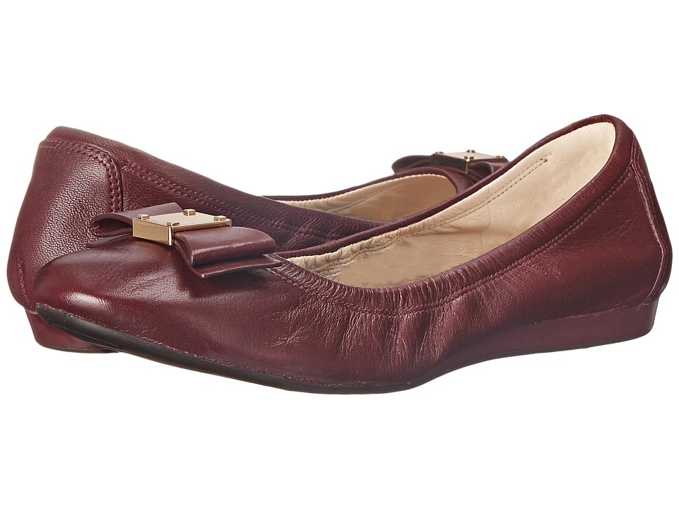 Cole Haan - Tali Bow Ballet (Zinfandel) Women's Slip on Shoes