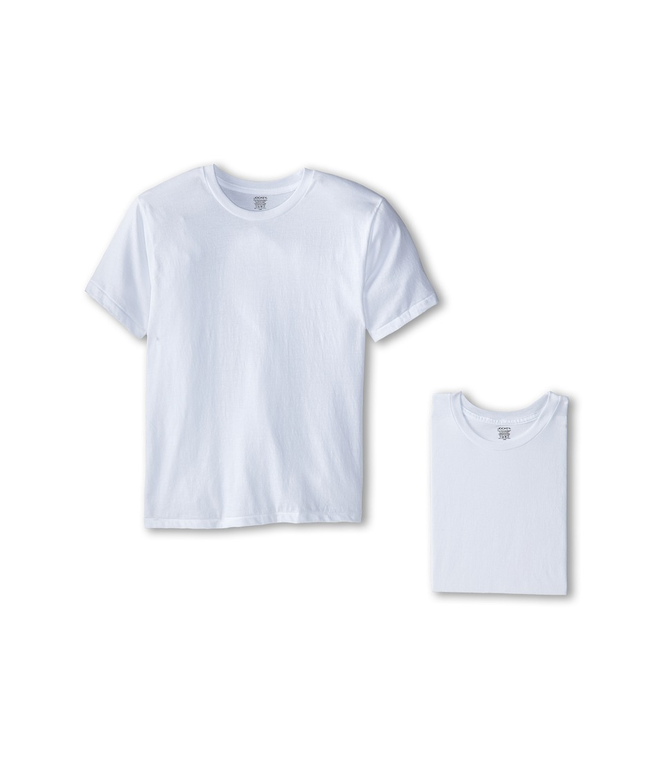 Jockey Kids - Performance Moisture-Wicking T-Shirt 3-Pack (Big Kids) (White) Boy's T Shirt