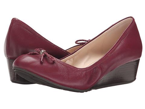 Cole Haan - Tali Grand Lace Wedge 40 (Zinfandel) Women's Slip on Shoes