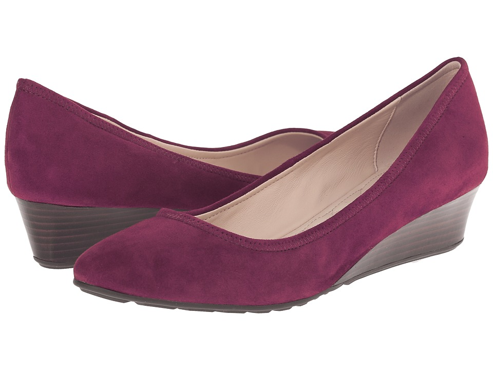 Cole Haan - Tali Luxe Wedge 40 (Cabernet Suede) Women's Slip-on Dress Shoes