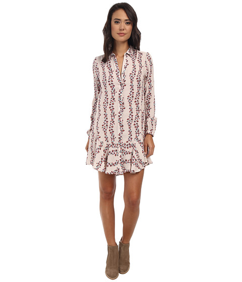 Free People - Button Down Shirtdress (Antique Combo) Women