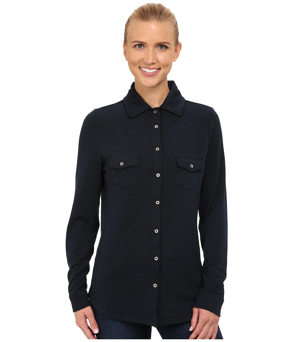 Carve Designs - Napa Button Down (Deep Sea) Women's Long Sleeve Button Up