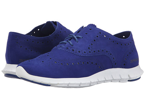Cole Haan - Zerogrand Wing Oxford (Marlin Blue Suede) Women