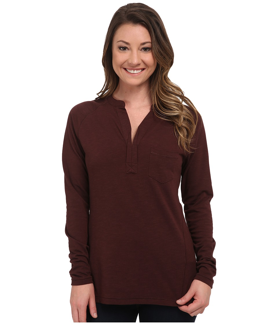 Carve Designs - Laguna Henley (Spice) Women's Long Sleeve Pullover