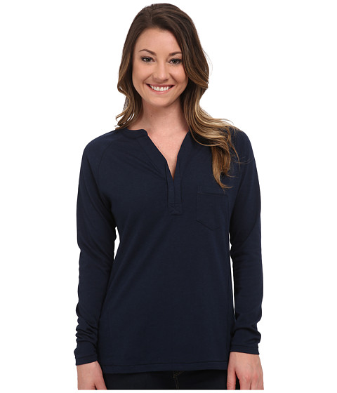 Carve Designs - Laguna Henley (Midnight) Women's Long Sleeve Pullover