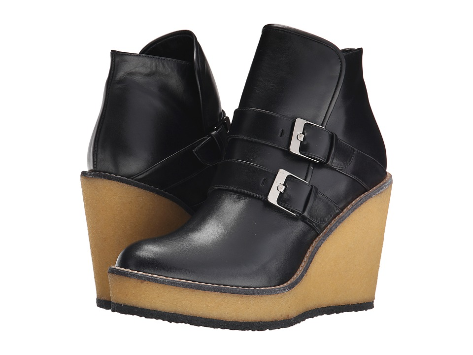Robert Clergerie Avril (Black Leather Calf) Women