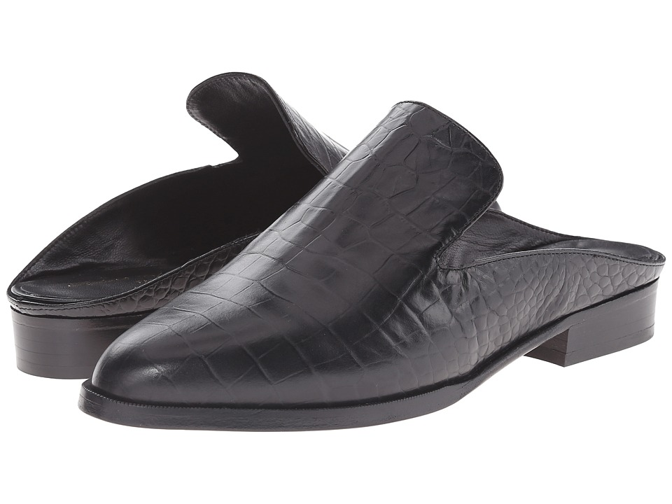 Robert Clergerie - Alice (Black Croc) Women's Slip on Shoes
