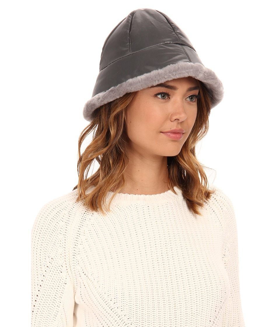 UGG - Lorien Cloche w/ Shearling Trim (Grey Multi) Cold Weather Hats